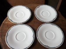 4 X GILDED RIM SAUCERS ROYAL DOULTON ASHLEY H 5181 1990